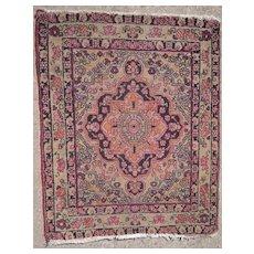 c1880s Lavar Kerman Persian Rug 2' x 3'