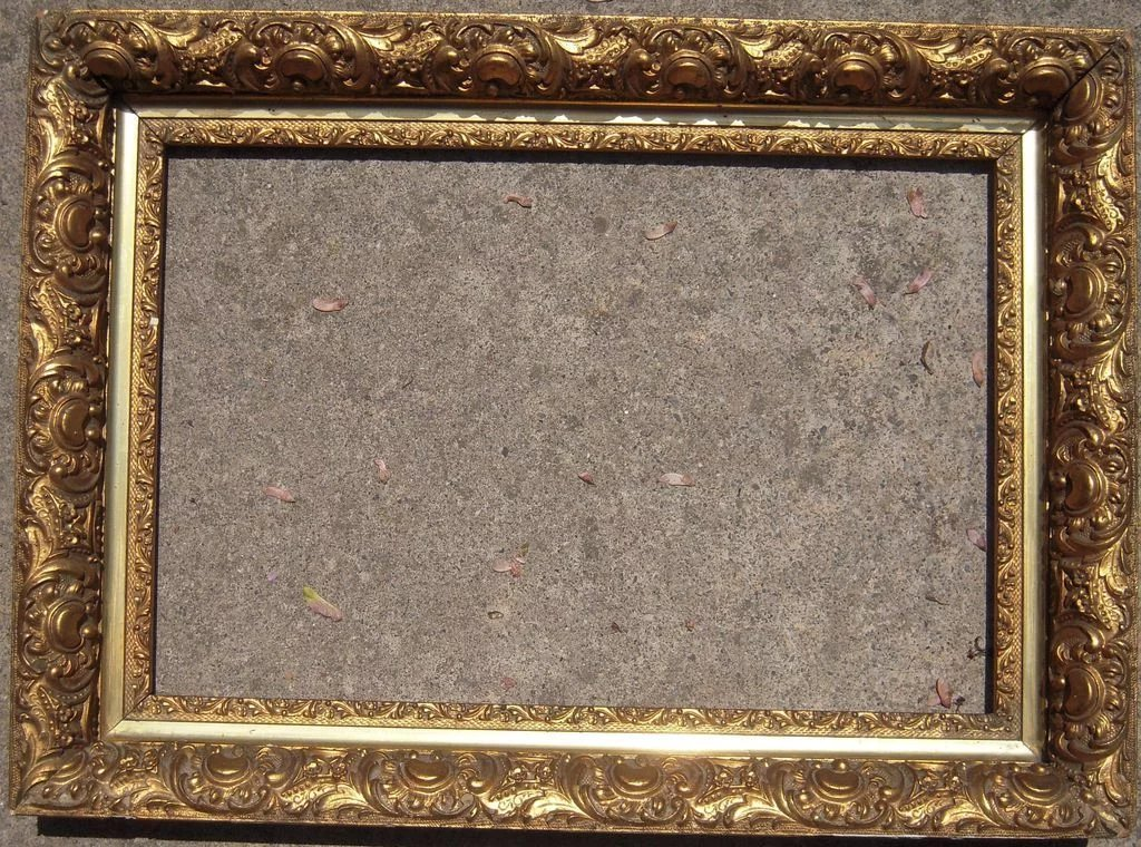 Ornate Gold Victorian Picture Frame 13 Quot X 19 Quot Blue