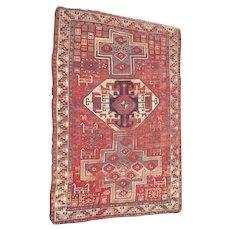 c1890 Kazak Caucasian Rug w/Animals 4' x 6'
