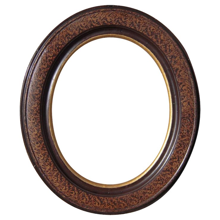 Victorian Marbleized Oval Picture Frame 8\