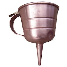 Early Automobile Tinned Copper Oil Strainer