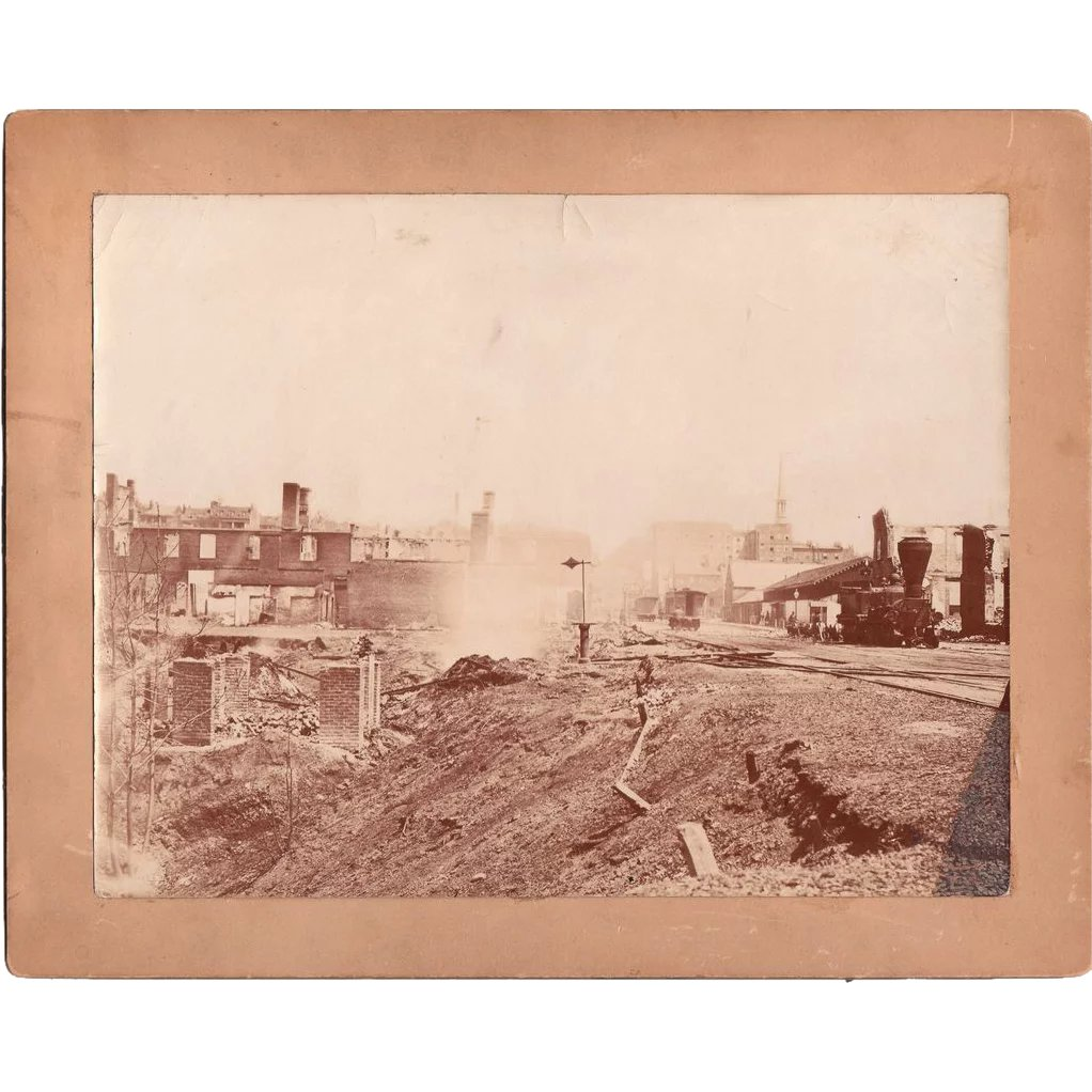 Large Civil War Photo Ruins Of Richmond, VA 1865 : Blue