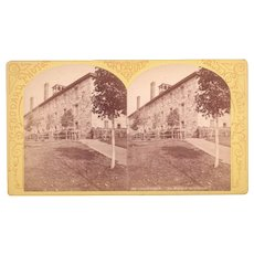 c1870s Stereoview Prisoners at Clinton Prison, NY