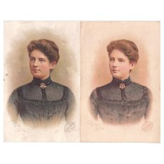 Trade Card Philip Best Brewing Co w/Frances Cleveland (2 available)