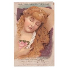 Hold to Light Victorian Trade Card Dingman's Soap