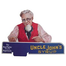 c1910s/1920s Uncle Johns Syrup Advertising Display
