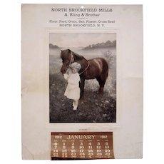 1912 N. Brookfield Mills (NY) Advertising Calendar