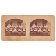 1874 Stereoview of 12 Babies from Hudson, MA (2 available)