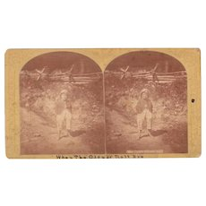 c1870s Stereoview of Barefoot Boy by Stoddard (2 available)