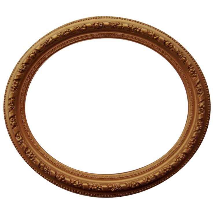 Large Ornate Oval Antique Gold Picture Frame 20 X 24 Sold Ruby Lane