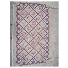 c1920s Hand Hooked Rug 3' x 5'9""