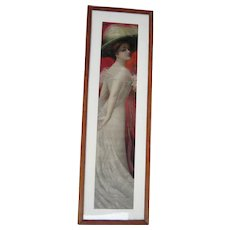 1910 Pabst Malt Extract Advertising Yard Long of Young Woman