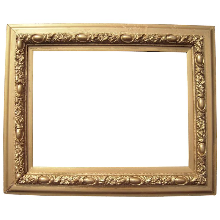 Ornate Victorian Gold Picture Frame 12\