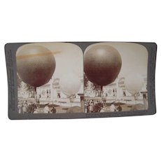 Stereoview Balloon Race at 1904 St. Louis Exposition