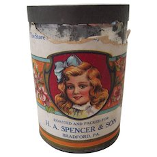 Victorian Advertising Coffee Can