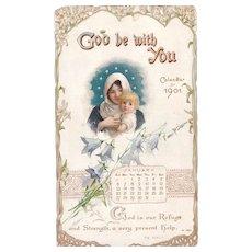 1901 Color Lithographed Calendar