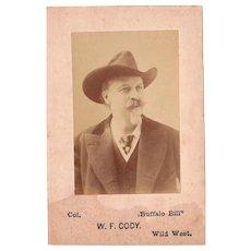 c1880/90s Photograph of Bill Cody (Buffalo Bill)