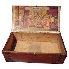 "Victorian Era Ornate Advertising Cigar Box ""Mosaic"" Tobacco"