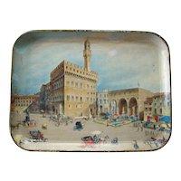 c1930 Color Lithographed Tray -- Italian Scene