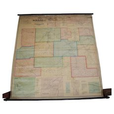 1871 Wall Map of McKean County Pennsylvania