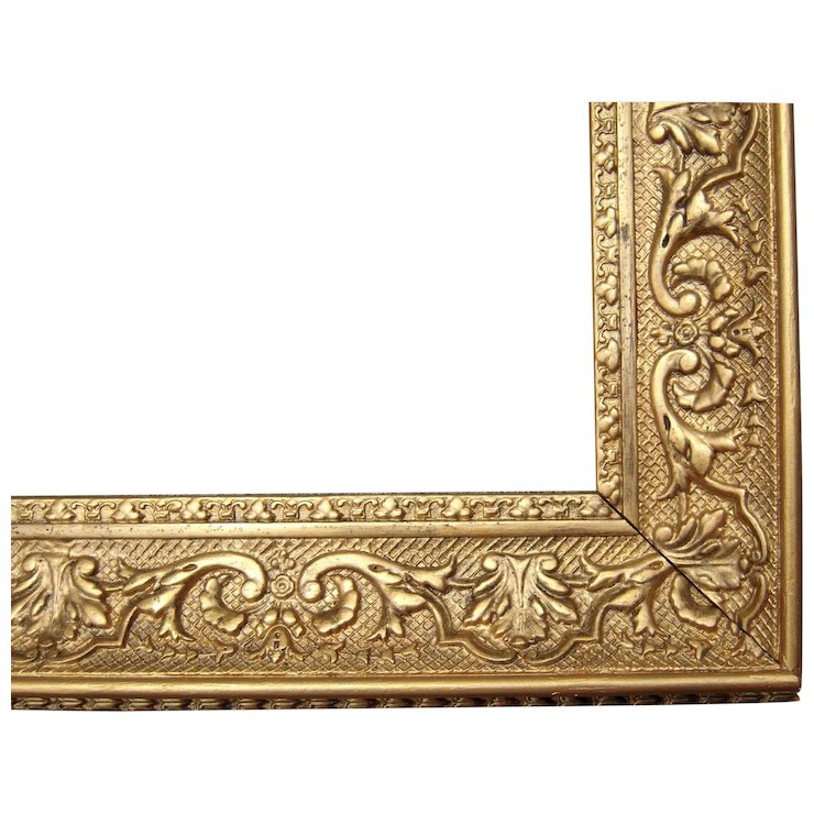 Large Ornate Gold Antique Victorian Picture Frame 19\