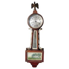 c1920s Small New Haven Clock Co Banjo Clock