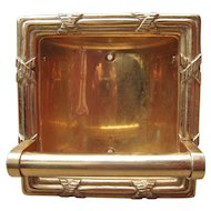 1950s Solid Brass Wall Soap Dish