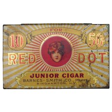 c1905 Advertising Tin Red Dot Cigars
