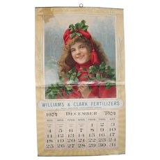 Large Full Color 1904 Fertilizer Advertising Calendar