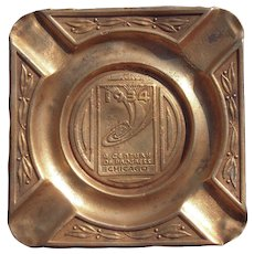 1934 Chicago Worlds Fair Brass Ashtray
