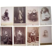 Lot of 8 1890s Cabinet Card Photos of Children #1