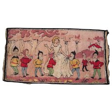 c1930s Snow White and 7 Dwarfs Rug 2' x 3'