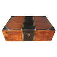 Victorian Era Jewelry Box  w/ Black & Gold Stenciling