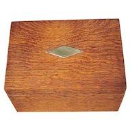 Vintage Oak Box w/Metal Liner