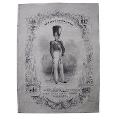 """1840 Sheet Music """"Hewitt's Quick Step"""""""