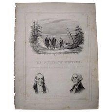 "1844 Sheet Music ""The Puritan's Mistake"""