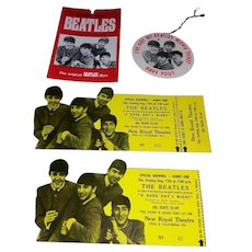 THE BEATLES 1964 New Royal Theatre Movie Two Tickets and More