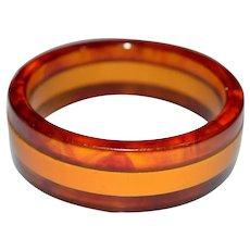 Butterscotch Yellow Apple Juice Stripe BAKELITE Tested Bangle Bracelet
