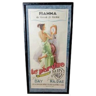 Tea for Two Te Perdue 1950 Italian Luigi Martinati Movie Poster Framed Doris Day