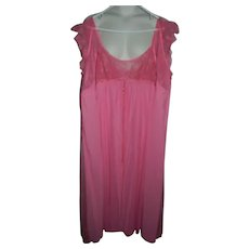 Pink Lace Claire Sandra by Lucie Ann Pink Peignoir Robe Nightgown 32