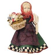 """1920s Italian Felt Lenci Side Glancing Blonde Dutch Girl Doll 12"""""""