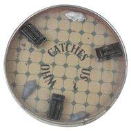"""1910s Antique Mouse Trap Dexterity Game 2 1/2"""""""