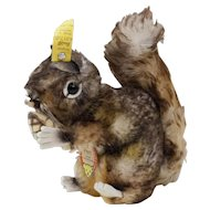 """1950s German Steiff """"Perri"""" the Squirrel with Tipped Mohair 7"""""""