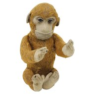 1930s German Schuco Yes/No Mohair Monkey 11""