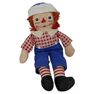 """1950's Georgene Averill Ragedy Andy Doll with Complete Outfit & Hat 15"""""""