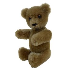 1950's Small Schuco YES NO Brown Mohair Fully Jointed Bear 5""