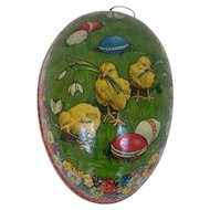 German Easter Egg with Chicks Design
