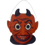 Early German Halloween Devil Jack-o-Lantern