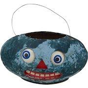 Early German Halloween Watermelon Jack-o-Lantern