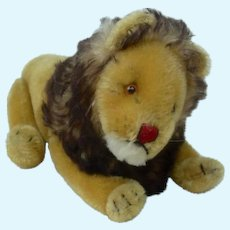 1950's Steiff Fully Jointed Lion with RSB in Ear